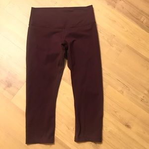 Lululemon Burgundy Maroon Leggings size 10